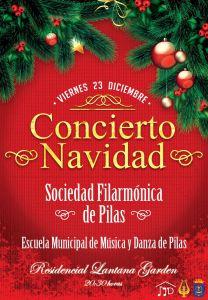 Cartel Concierto de Navidad Sociedad Filarmónica de Pilas